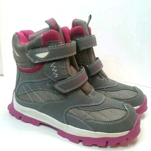 NAUTICA PINK GRAY BOOTS SIZE 6 STYLE NB141X SNOW O